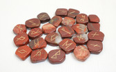 Red Jasper Rune Stones NO POUCH Free Shipping