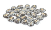 Snowflake Obsidian Rune Stones NO POUCH