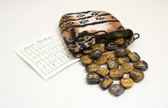 Tiger's Eye Rune Stone Set With Pouch