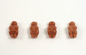 Goldstone Venus of Willendorf Brown Beads 4 Pieces with 1.3mm Hole