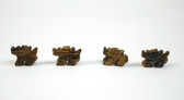Tiger's Eye Dragon Brown Stone Beads Set of 4 with 1.3mm Hole