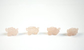 Rose Quartz Dragon Pink Stone Beads Set of 4 with 1.3mm Hole
