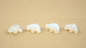 Opalite Frog Beads Carved Blue Beads Set of 4 with 1.3mm Hole