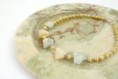 Yellow Pearl and Fluorite Necklace