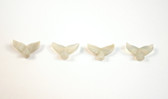 Agate Whale Tail Beads Gray Stone Sea Animal Tail Beads Set of 4 with 1.3mm Hole