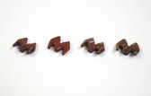 Red Jasper Bat Beads Stone Animal Beads Set of 4 with 1.3mm Hole