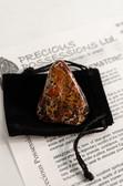 "Brecciated Jasper Tumbled Stone Large 1.5-2"" with Bag"