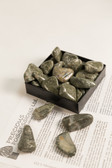 "Rhyolite Jasper Tumbled Stones 1/4 Lb Medium Size 1-1.75"" Green Rainforest Jasper"