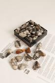 "Silver Leaf Jasper Tumbled Stones 1/4 Lb Size Small 1-1.60"""