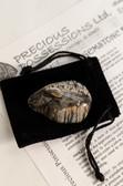 "Silver Leaf Jasper Tumbled Stone Medium Size 1.20-2.25"" with Bag"