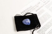 "Sodalite Tumbled Stone Size Small Blue Stone .75-1.15"" With Bag"