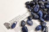 "Sodalite 1/4 Lb Tumbled Stones Size Small Blue Stones .75-1.15"""