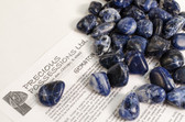 Sodalite 1/4 Lb Tumbled Stones Size Medium Blue Stones .95-1.25""