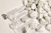 Howlite 1/4 Lb Tumbled Stones Size Medium White Gray Stones 1-1.75""