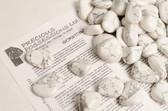 "Howlite 1/4 Lb Tumbled Stones Size Medium White Gray Stones 1-1.75"""
