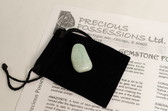 "Amazonite Tumbled Stone Size Small Blue Green Stone .85-1.25"" With Bag"