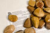 """Yellow Jasper 3 Ounces Tumbled Stones Size Extra Large 1.75-2.30"""""""