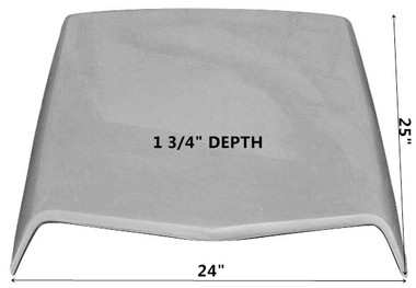MC-413 1971-1973 Ford Cougar Fiberglass Hood Scoop-BOLT ON