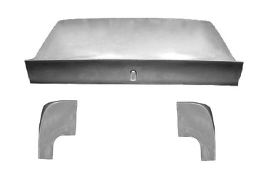 M-210DL-KIT 1964 1/2-1966 Ford Mustang Coupe Fiberglass Spoiler Deck Lid/Trunk and PAIR of Extensions