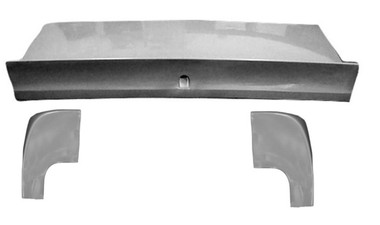M-214DL-KIT 1964 1/2-1966 Ford Mustang Fastback Fiberglass Spoiler Deck Lid/Trunk and PAIR of Extensions