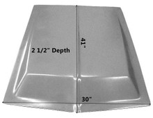 "M-114 1964 1/2-1968 Eleanor Style 2 1/2"" Rise Fiberglass Hood Scoop-BOND ON"