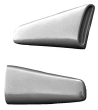 M-3000US 1964 1/2-1966 Ford Mustang Fastback Fiberglass Upper Side Scoops-PAIR-BOLT ON