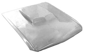 M-308 1964 1/2-1966 Ford Mustang Fiberglass Hood With Closed Front 429 Style Scoop