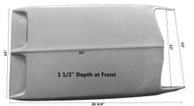 M-307 1969-1970 Ford Mustang Mach 1 Fiberglass Hood Scoop-BOLT ON