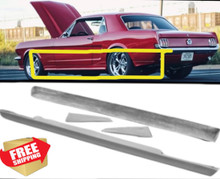 1965 1966 Mustang 4 Piece Ground Effects Kit side skirts body kit
