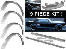 M-1109 1964 1/2-1966 Ford Mustang Coupe and Fastback 9 Piece Fiberglass Body Kit