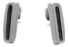 M-103 1967 - 1968 California Special Functional Bolt On Fiberglass Mustang Side Brake Scoops - Pair