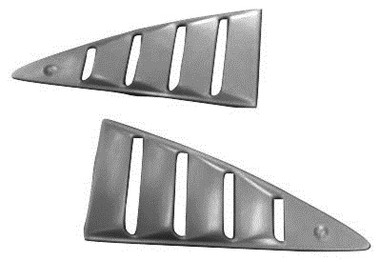 M-107   1973-1978 Ford Mustang II and Cobra II Fiberglass Quarter Window Louvers