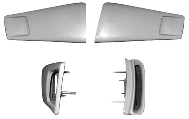 M-900 1967-68 Functional Shelby Style Fiberglass Upper Side Scoops-PAIR