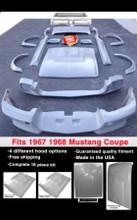 "1967-1968 Ford Mustang ""E"" COUPE Fiberglass 16 piece Body Kit"