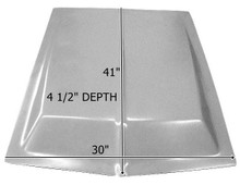 "M-117 1964 1/2-1968 Eleanor Style 4 1/2"" Rise Fiberglass Hood Scoop-BOND ON"