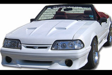 "1987-1993 Mustang Mach one style hood 1.5"" rise"