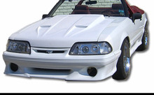 "1987-1993 Mustang Mach one style hood 2.5"" rise"