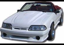 "1987-1993 Mustang vented cobra R style hood 2.5"" rise"