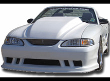 "1994-1998 Mustang cobra R style cowl hood  4"" rise"