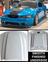 "1999-2004 Mustang Cobra R style cowl hood 2.5"" rise"