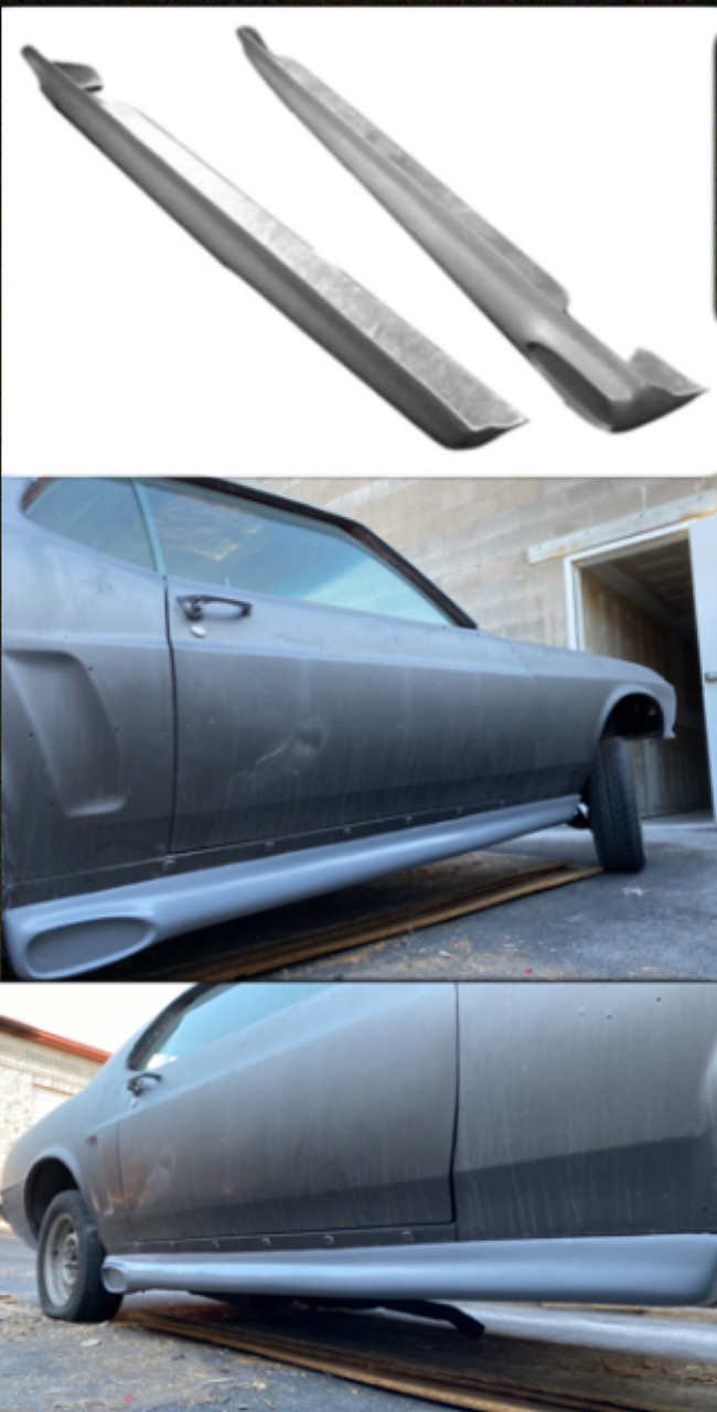 1969 1970 Mustang Ground Effects Side Skirts For Side Exit Exhaust Fiberglass Specialties Inc