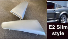 1965 1966 Mustang fastback E2 upper side scoops PAIR (SLIM STYLE)