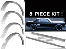 1965 1966 mustang side ground effects 8 piece kit
