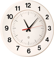 "14"" Round Wall Clock with Acrylic 'Dome' Cover - Peter Pepper Model 330 - Analog"