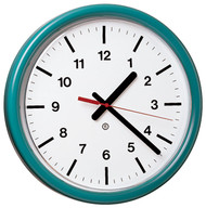 """12"""" Round Wall Clock with Acrylic Cover - Peter Pepper Model 382 - Analog"""