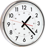 "16"" Round Wall Clock with Acrylic Cover - Peter Pepper Model 386 - Analog"
