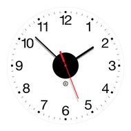 "14"" Round Clear Acrylic Wall Clock - Peter Pepper Model 835 - Analog"