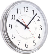 "14"" Round Wall Clock with Acrylic Cover - Peter Pepper Model 845 - Analog"