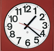 "14.5"" Square Wall Clock with Acrylic Cover - Peter Pepper Model 880 - Analog"
