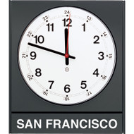 "Model 881 - 14-1/2""w Time Zone Clock with Acrylic Cover"